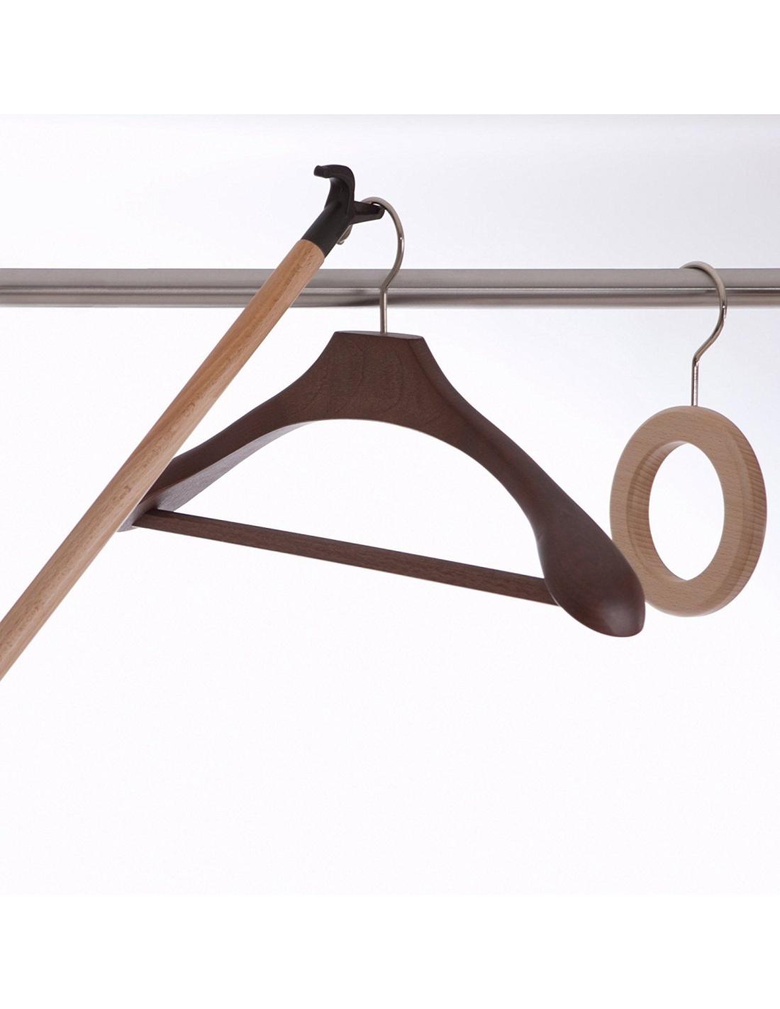 Asta appendiabiti in legno per armadio alfonso 643 arredamenti italia - Appendiabiti da camera da letto ...