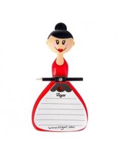 """Lavagnetta Notebook con pennarello """"Dolls"""" di Vigar"""