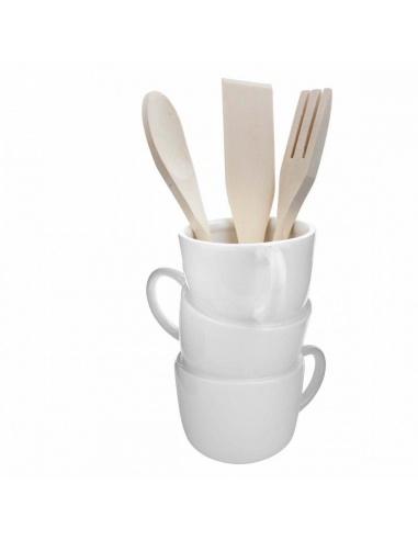 Portamestoli da cucina in ceramica con 3 mestoli in legno for Mestoli da cucina vendita online