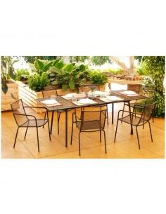 Tavolo da pranzo allungabile modello Caroline 170/220 x 90 cm.