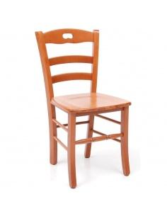 Sedia da pranzo in legno modello Loris Massello colori ciliegio e noce