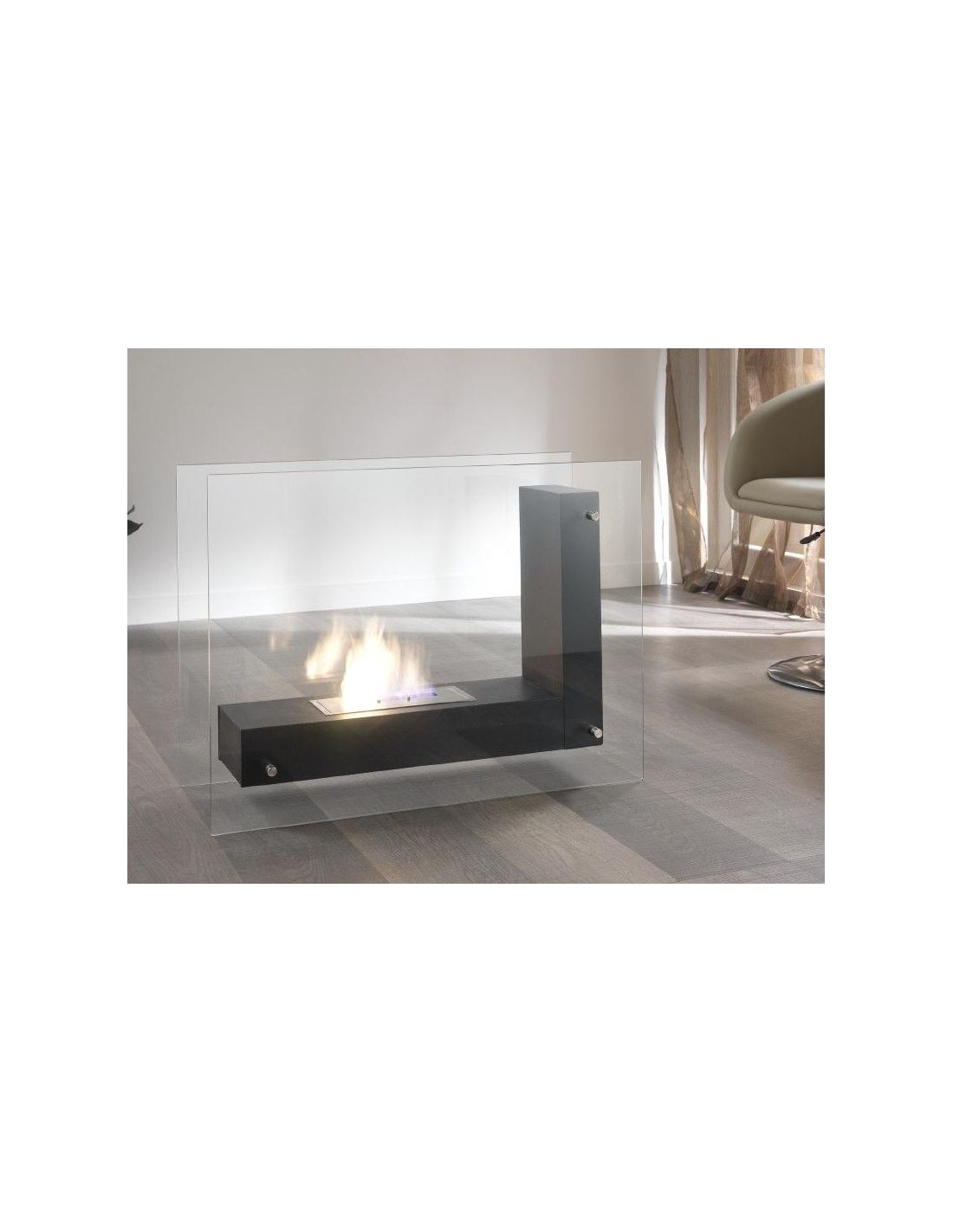 Camino a bioetanolo di stones modello fp 06 in vetro e acciaio for Camino esterno in stile spagnolo