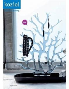Portagioie modello Cora di Koziol colori trasparente e nero