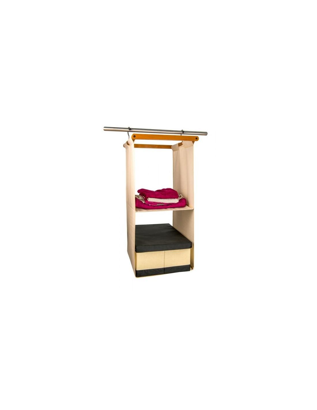 Organizzatore per armadio salvaspazio legno space 2 for Accessori per camera da letto