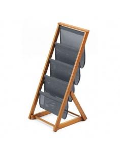 Portariviste in legno modello Matrix cod.717 di Arredamenti Italia - 4 spazi in tela