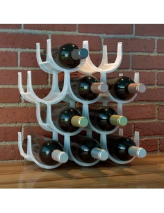 Cantinetta/ Portabottiglie componibile in plastica Basics di Balvi 10 bottiglie