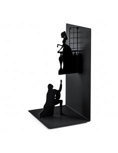 Fermalibri in metallo modello Romeo e Giulietta di Balvi colore nero