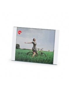 Portafoto da appoggio Padova 20x25 cm bianco in alluminio idea regalo