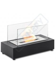 Caminetto a bioetanolo da tavolo mod. FP/002 no canna fumaria 1,5lt colore nero