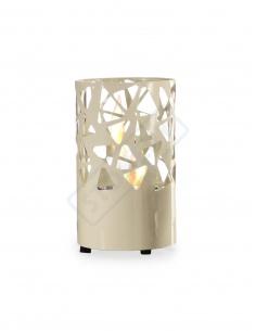 Caminetto/ Lanterna a bioetanolo da tavolo mod.FP/024 no canna fumaria 0,4 litri colore bianco opaco