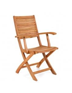 Poltroncina in legno  con braccioli modello Texas