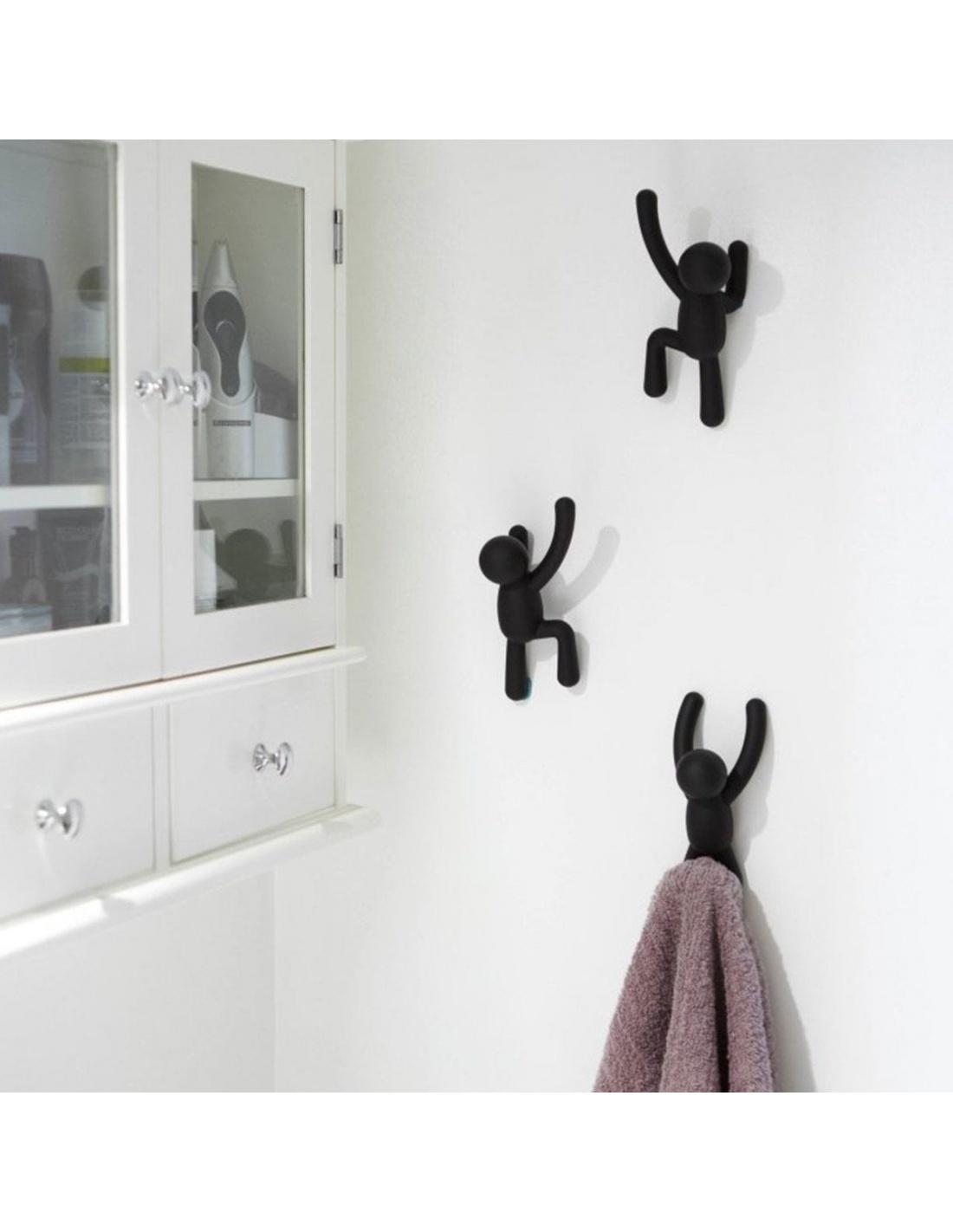 Appendiabiti da parete buddy a forma di omino in diversi for Appendiabiti parete