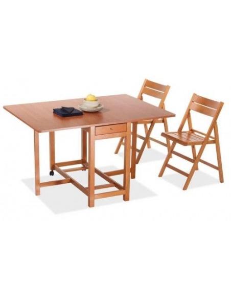 Tavolo pieghevole portasedie