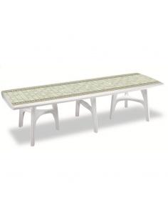 Tavolo da giardino rettangolare allungabile moderno