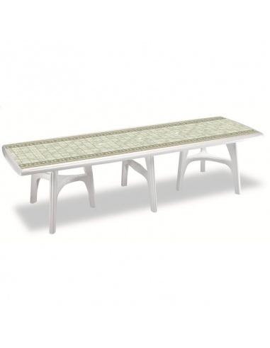 Tavoli Da Esterno In Resina Allungabili.Tavolo Per Giardino Allungabile In Resina Mod President 3000 Di Scab
