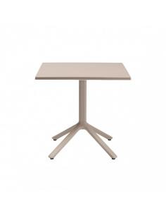 Tavolino ECO FISSO piano liscio 80x80 cm 2449 - Scab Design