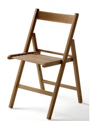 set di 4 sedie pieghevoli in legno vari colori