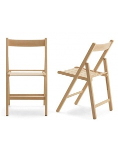 set 4 sedie pieghevoli in legno diversi colori