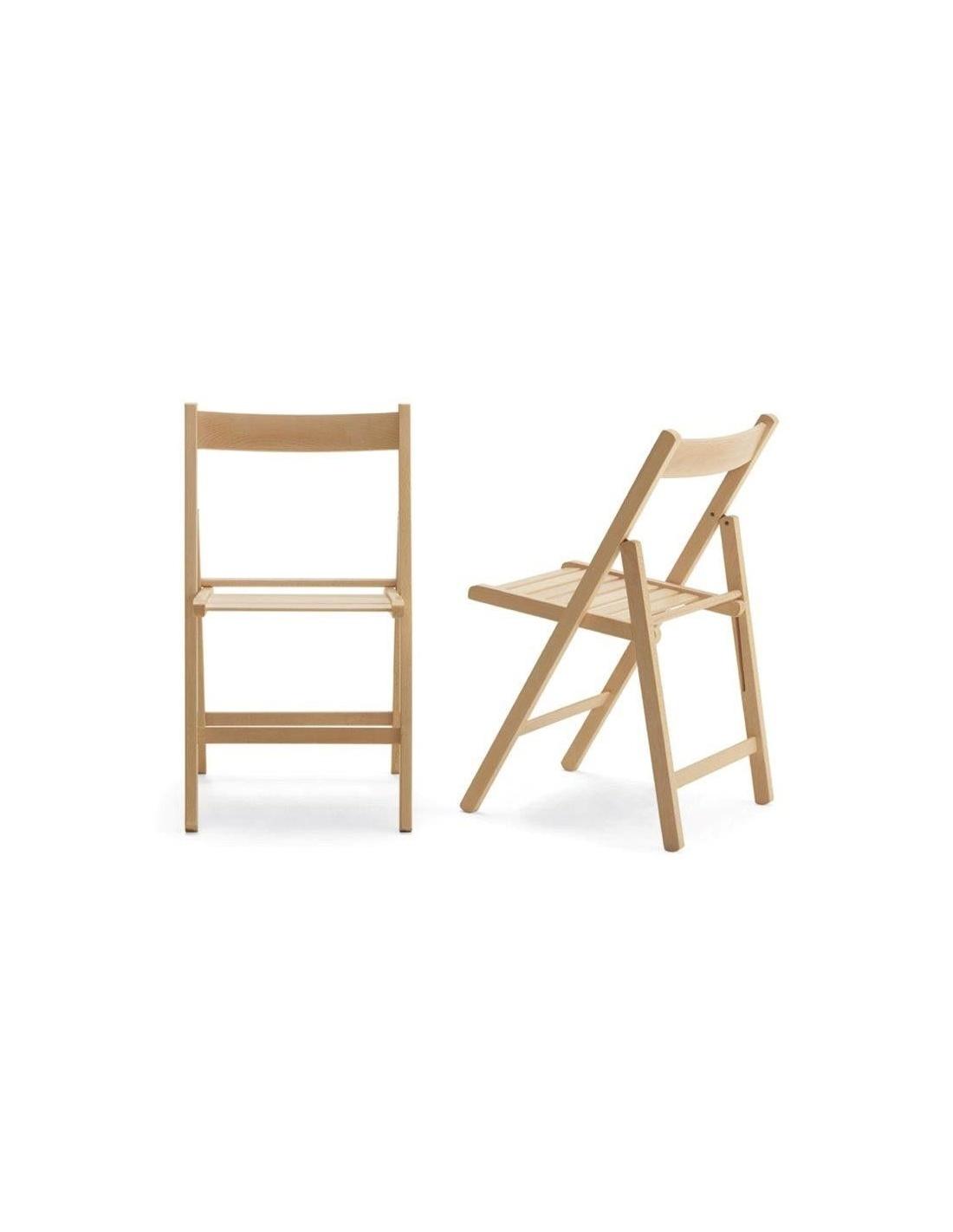 Set di 4 sedie pieghevoli in legno vari colori for Sedie pieghevoli legno