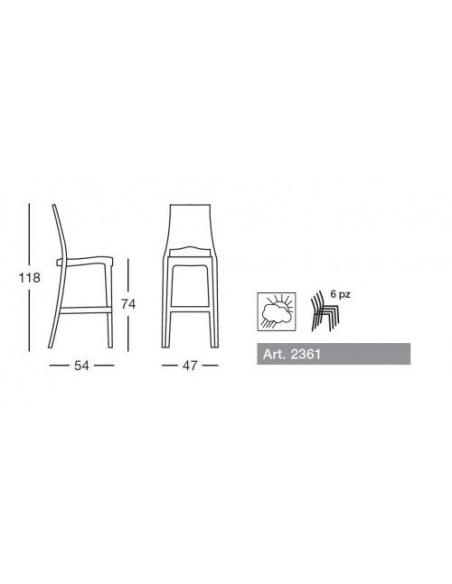Sgabello GLENDA 2361 - Scab Design