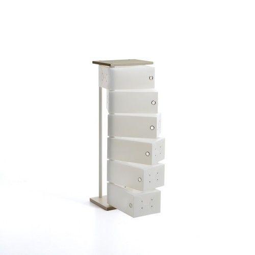 Scarpiera FLUIDA WOOD CL831 Small 6 Cassetti Emporium Slim Salvaspazio