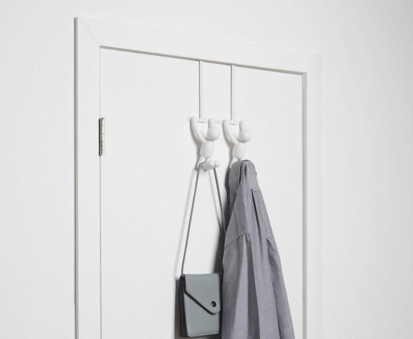 Appendiabiti dietro porta armadio a forma di omino buddy over the door