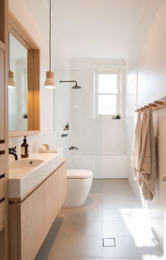 Bagni stretti e lunghi come arredarli in maniera ottimale for Australian small bathroom design