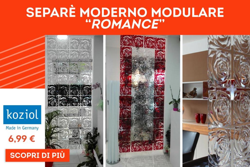 """Separè Moderno Modulare """"Romance"""""""