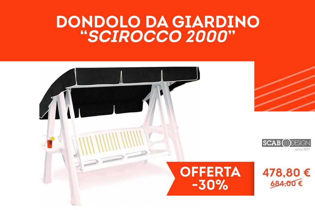 Dondolo da Giardino in Resina 3 posti, Mod. Scirocco 2000 di Scab Design ideale per Esterni