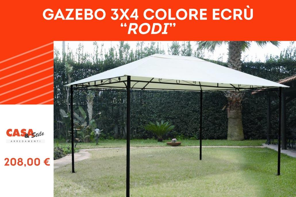 Gazebo modello Rodi 3x4 colore ecrù