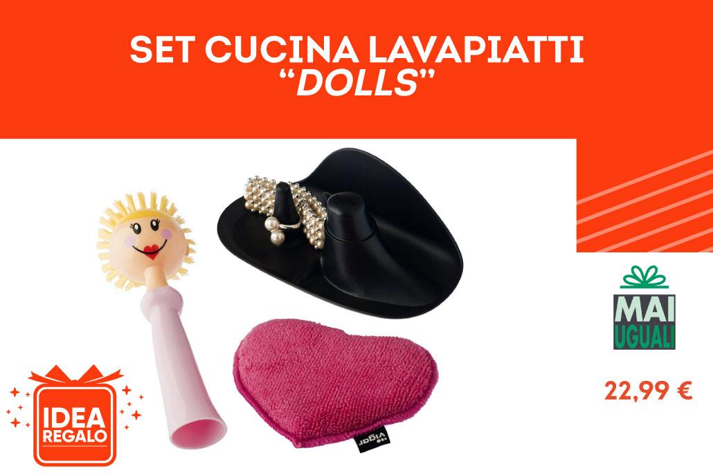"""Set da cucina lavapiatti """"Dolls"""" - Mai Uguali"""