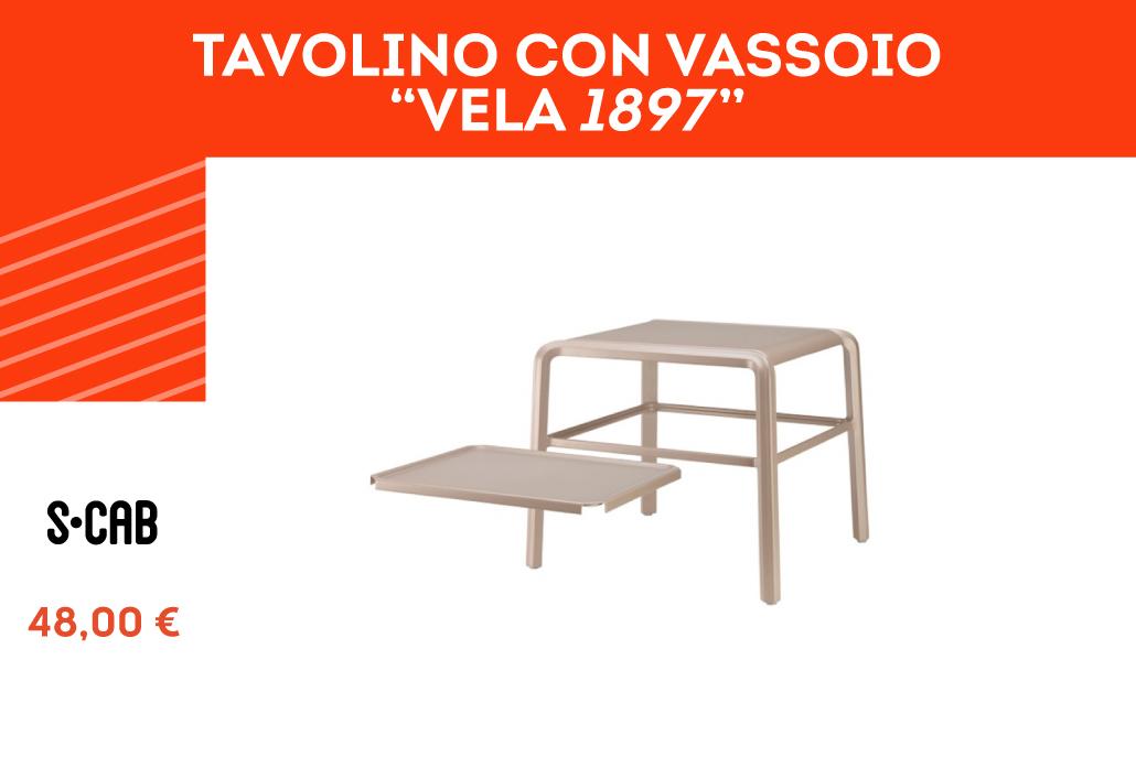 """Tavolino con vassoio """"Vela"""""""