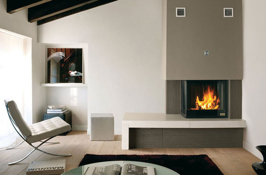 Camini moderni per riscaldare casa con stile a prezzi di - Termosifoni a parete prezzi ...