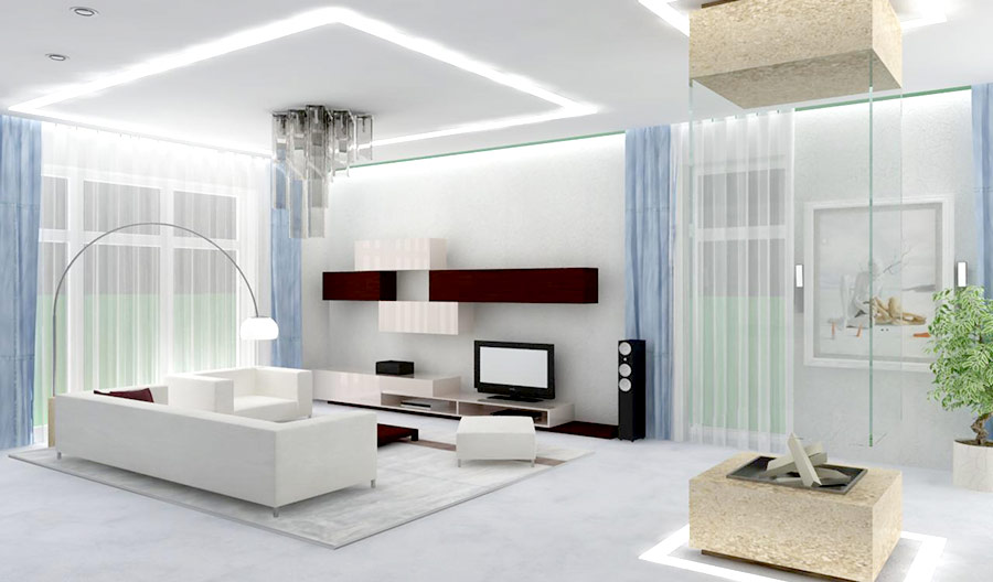 Come arredare un soggiorno moderno con stile e risparmiare for Esempi di arredamento