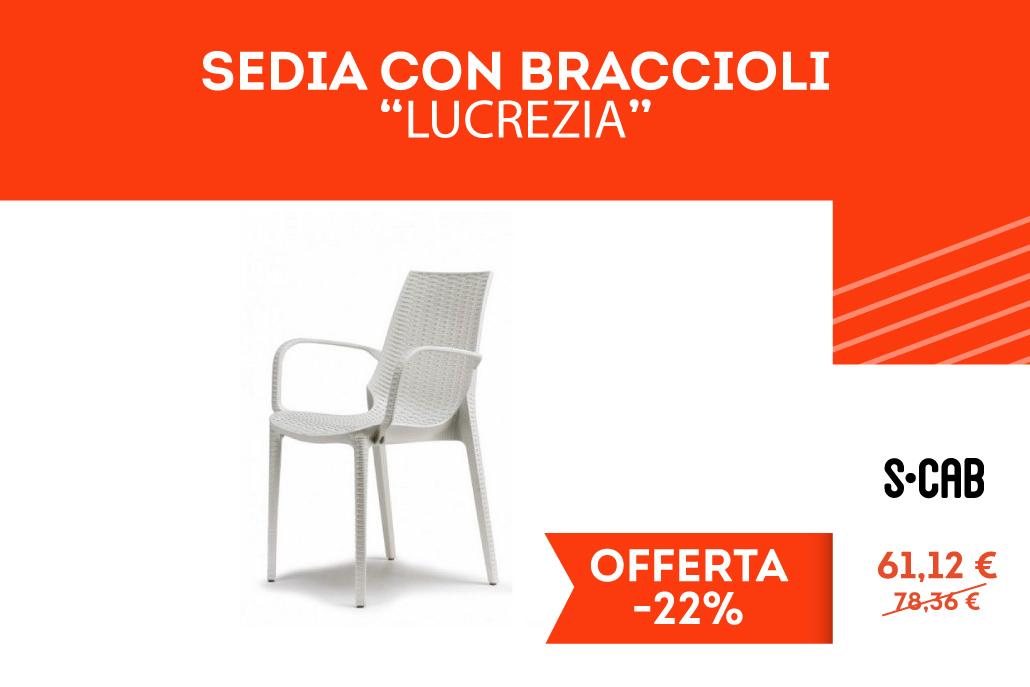"""Sedia con Braccioli """"Lucrezia"""""""