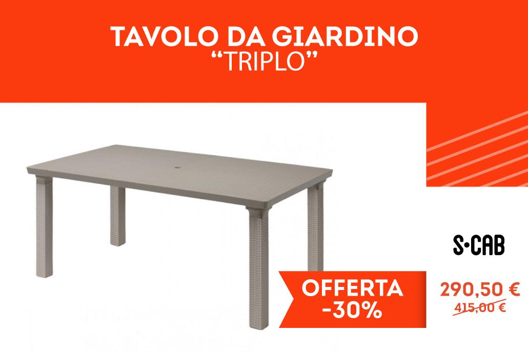 """Tavolo da giardino """"Triplo"""""""